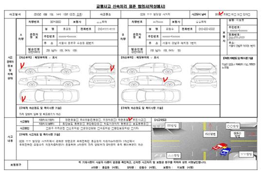 교통사고 신속처리 협의서 활용방법